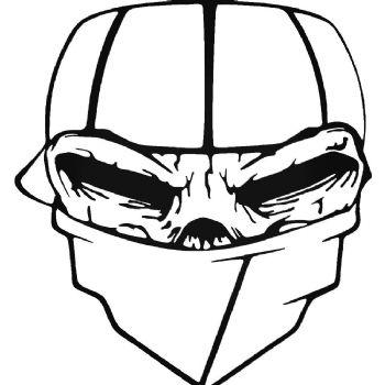 Skull Masked Car Stickers Motorbike Vinyl Decals Fairings Panniers
